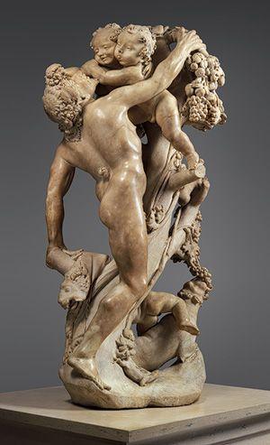 Gian Lorenzo Bernini (Italian, 1598–1680).  Bacchanal: A Faun Teased by Children, 17th c. (1616–17). Marble.