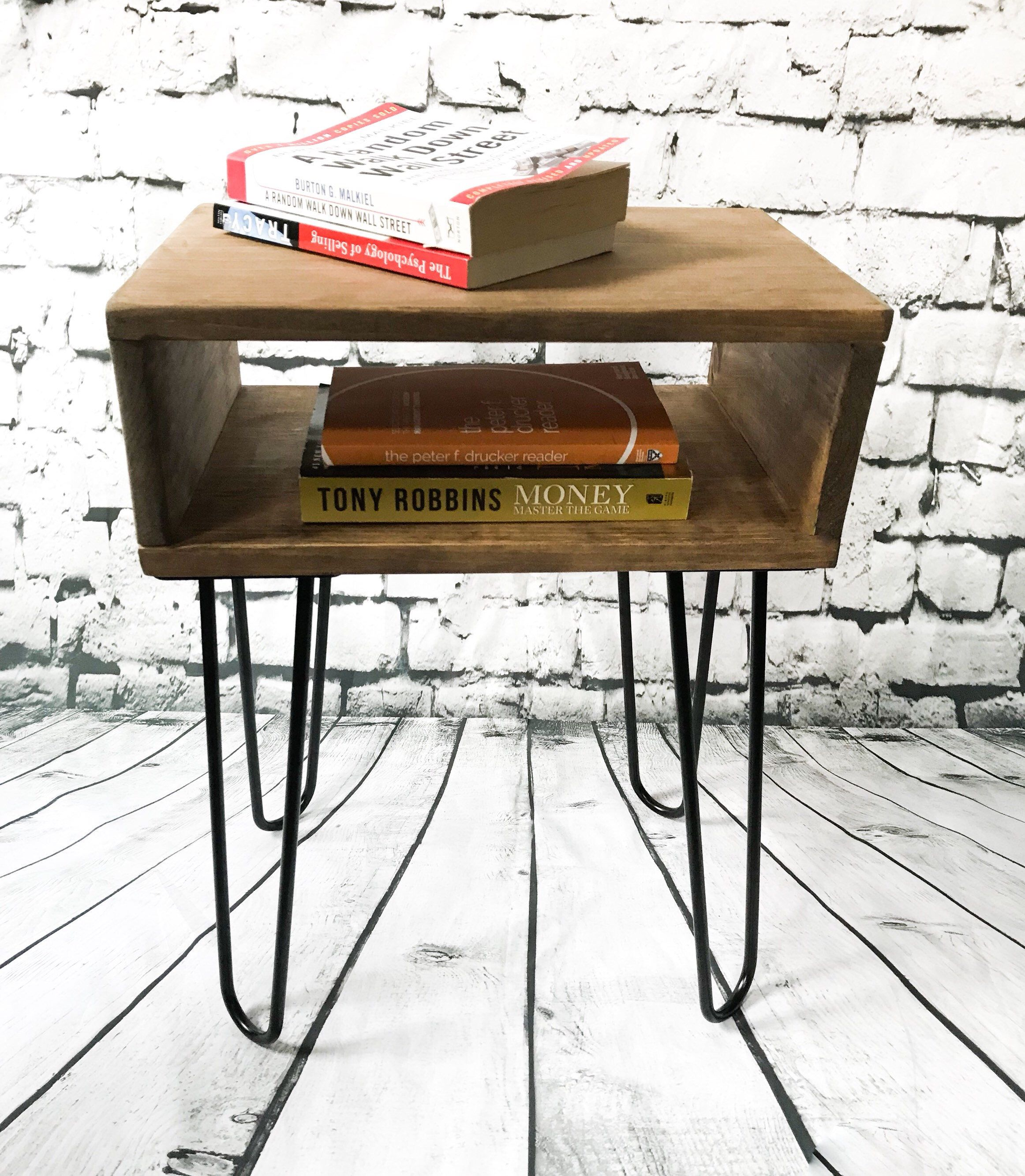 Best Handmade Real Wood Nightstand Bed Side Table Mid 400 x 300