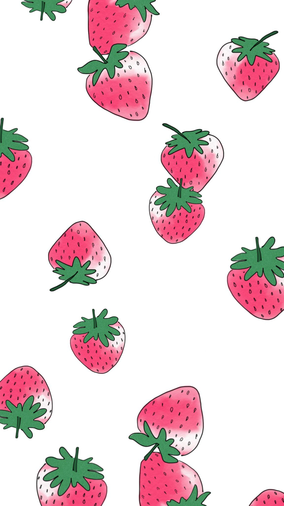 Strawberries Iphone 7 wallpapers, Iphone wallpaper food