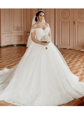 brautkleider a linie günstig  weiße hochzeitskleider online modellnummer xy609