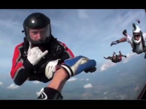 Dramatic Moment Unconscious Skydiver Rescued Mid Air Captured On Helmet Inspiration In This Moment Helmet Camera Inspirational Videos