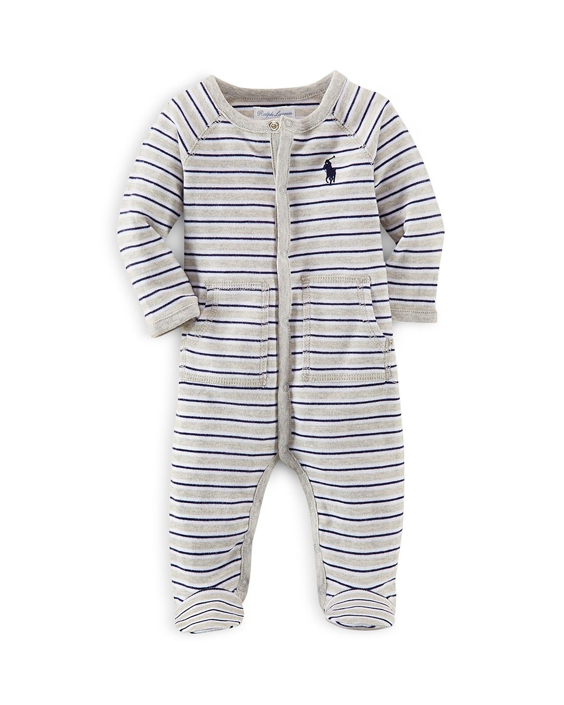 008f8c5d47c2 Ralph Lauren Infant Boys  Rugby Stripe Footie - Sizes Newborn-9 ...