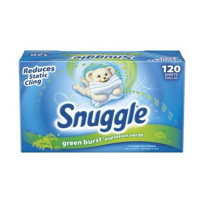 Snuggle Green Burst Dryer Sheets 120 ct
