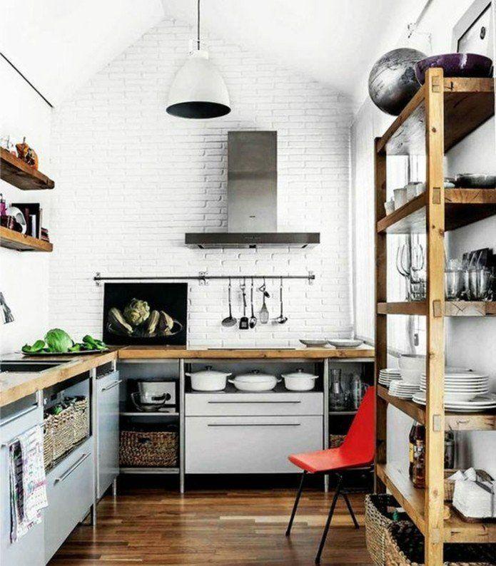 Cuisine industrielle - lu0027élégance brute en 82 photos exceptionnelles - peinture sur meuble bois