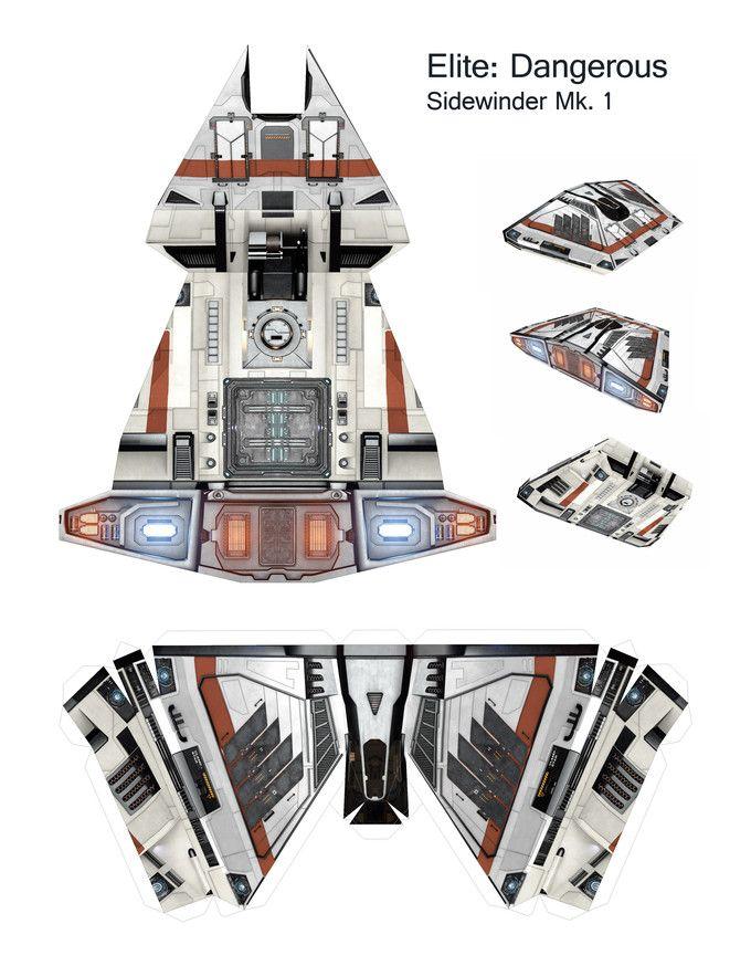 Sidewinder Mk. I Papercraft Pattern