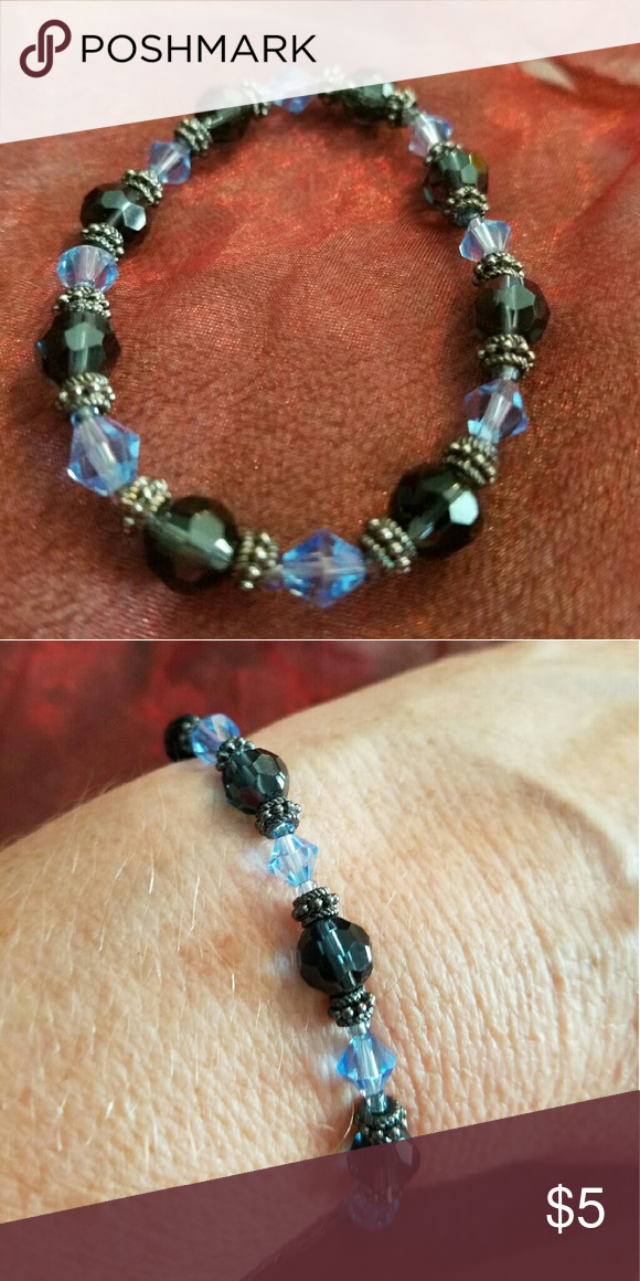 Stretchy glass Crystal Beads bracelet Brand new and never been worn and handmade by me too Jewelry Bracelets