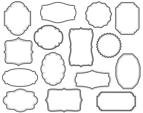 15 digital scrapbook frames clip art clipart decorative border supplies - Decorative Frames