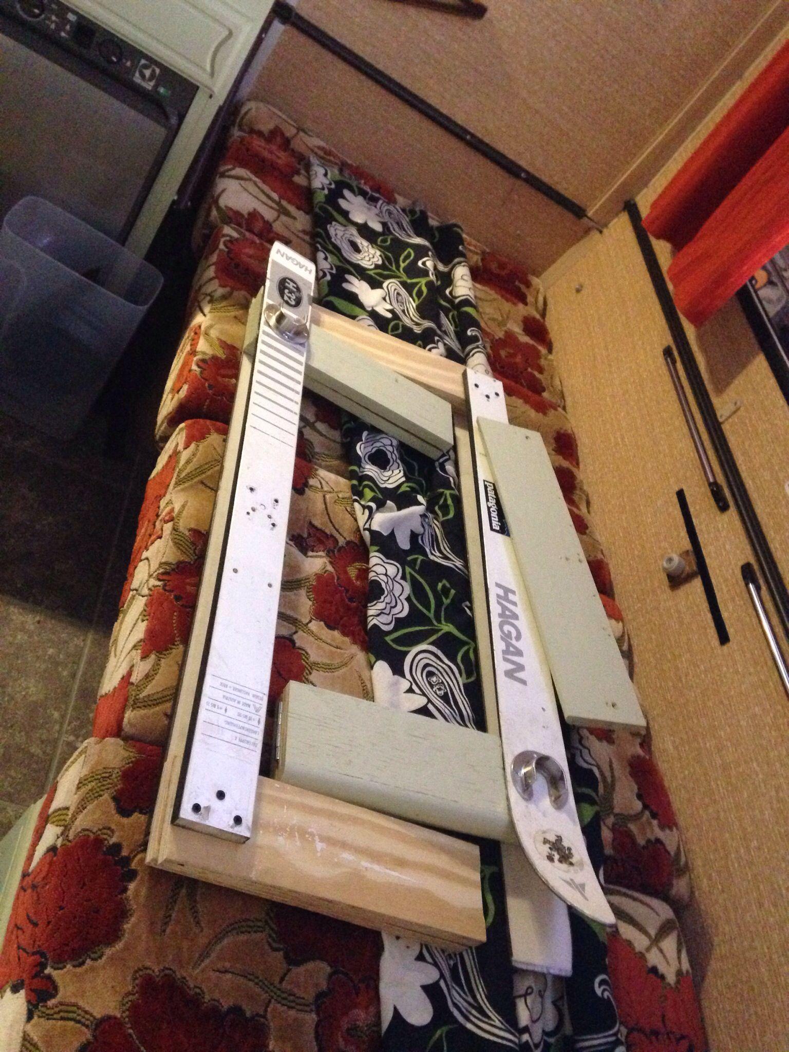 DIY folding caravan bunk bed. Caravane, Esterel