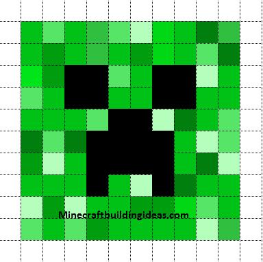 Minecraft Pixel Art Templates Creeper Minecraft Quilt Minecraft Pixel Art Pixel Art Templates
