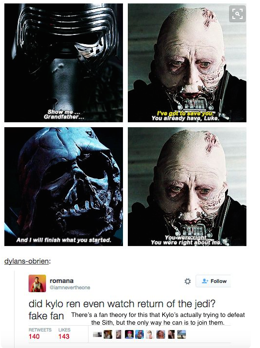 Ding Dong You Are Wrong If That Were True Why The Heck Would He Kill His Father There Is No Excuse For That Star Wars Canon Star Wars Memes Star Wars