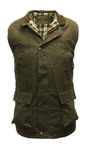 eef5eb22 Great for Walker and Hawkes Men's Wax Bodywarmer Waistcoat Countrywear  Gilet Olive Mens Fashion Clothing.