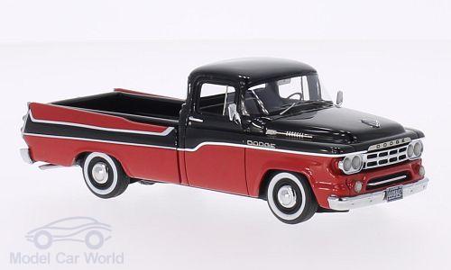 Dodge D 100 Sweptside Pick Up, rot/schwarz