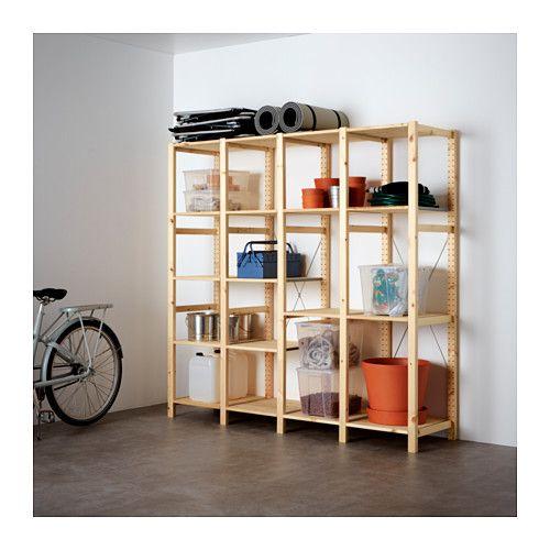 ivar 4 sections tablettes pin dressing pinterest. Black Bedroom Furniture Sets. Home Design Ideas