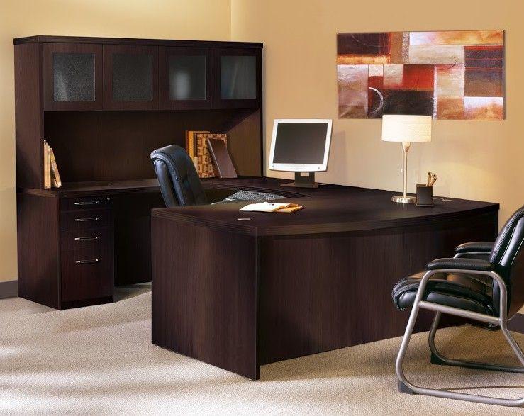 Aberdeen Series U-Shape Executive Desk with Hutch