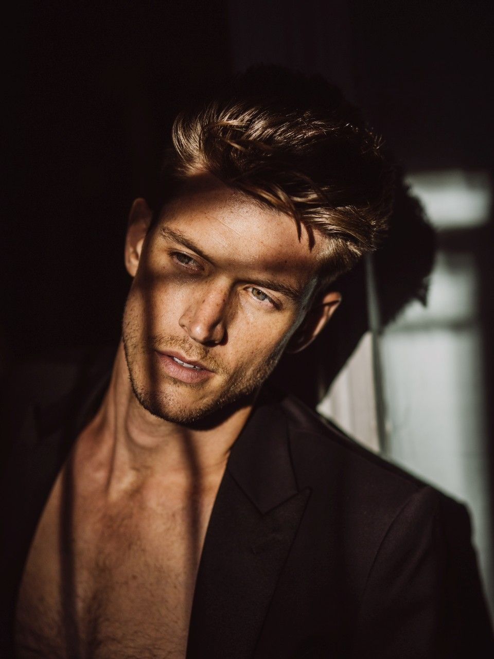 Logan Macrae Storm Models Photography Poses For Men Blonde