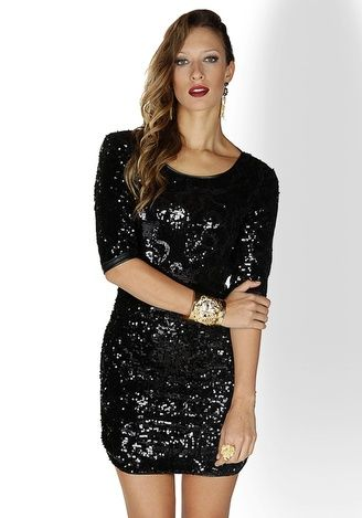 Vestido de paete preto para casamento
