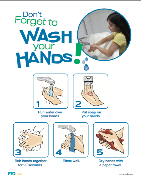 Great for school! A Wash Your Hands poster you can download