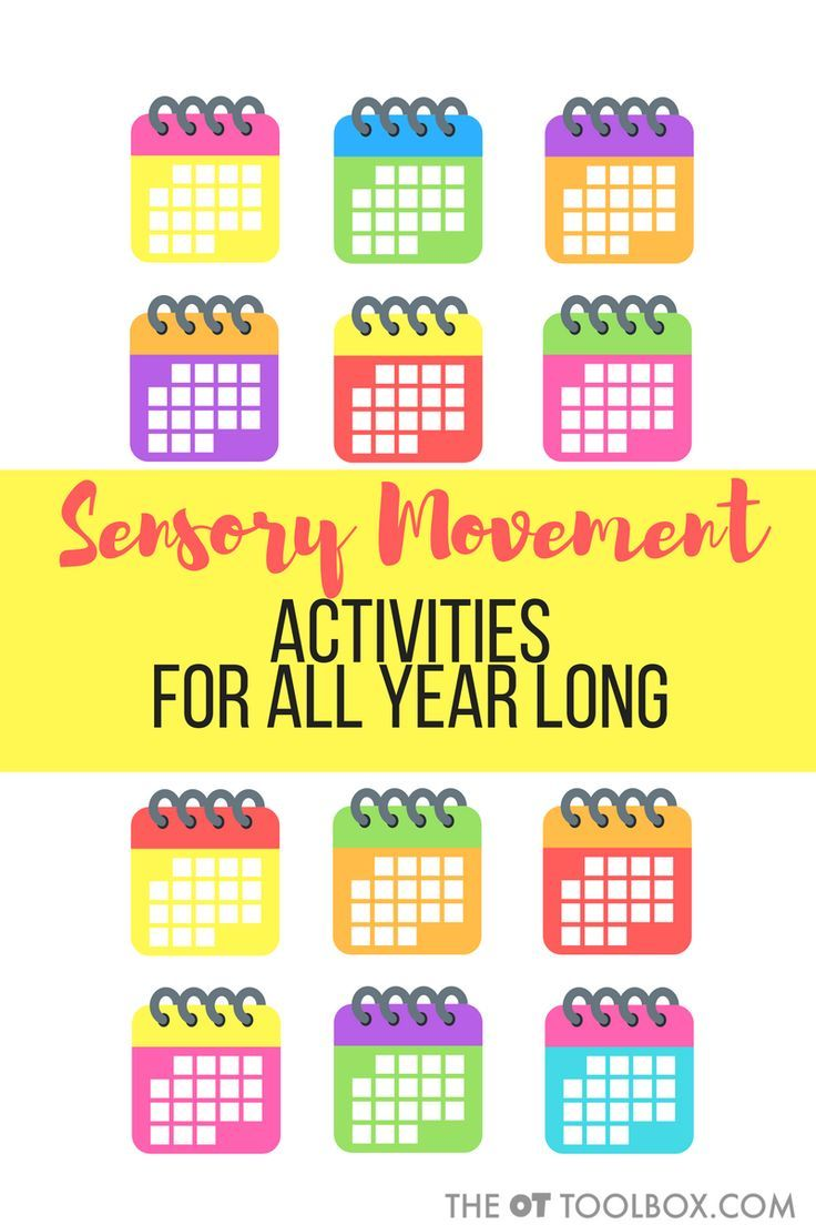 Monthly Movement Activities | Occupational therapy activities ...