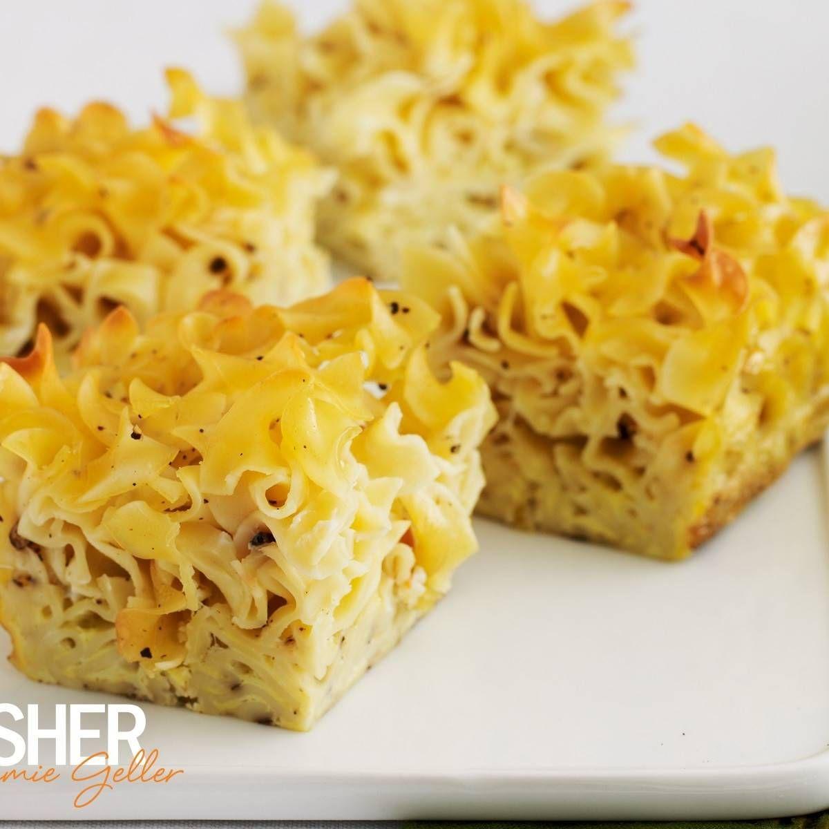 Savory Noodle Kugel Recipe Jewish Recipes Kosher Recipes Stuffed Peppers