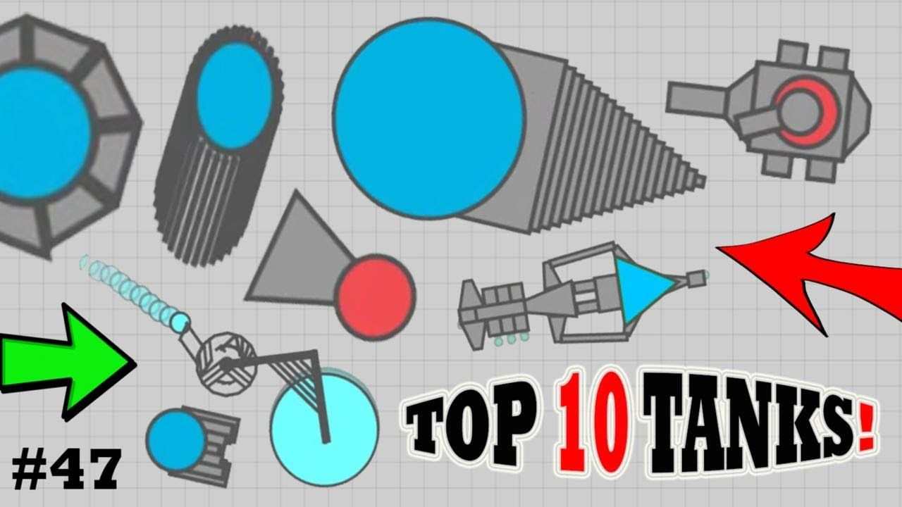 TOP 10 NEW BEST DIEP.IO TANKS EVER !!! (FAN TANK IDEAS 47