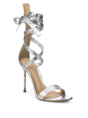 9564fe50cf6 GIANVITO ROSSI Folie Metallic Leather Ankle-Wrap Sandals.  gianvitorossi   shoes  sandals