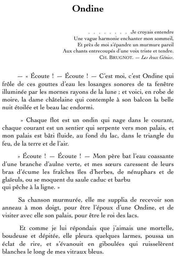 Gaspard De La Nuitaloysius Bertrand Livres Literature