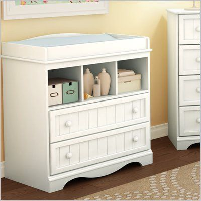 South Shore Handover Changing Table in White Finish | Cuarto de bebe ...