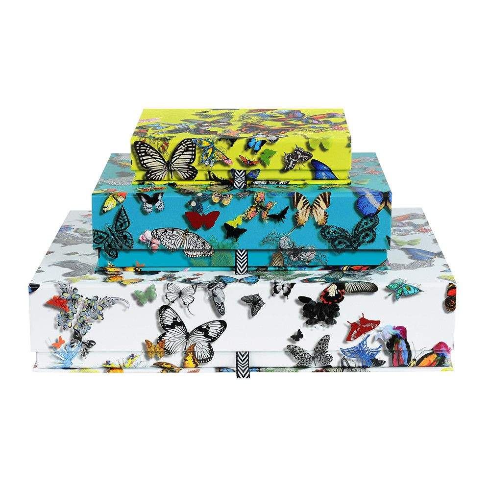 Discover the Christian Lacroix Butterfly Parade Boxes - Set of 3 at Amara