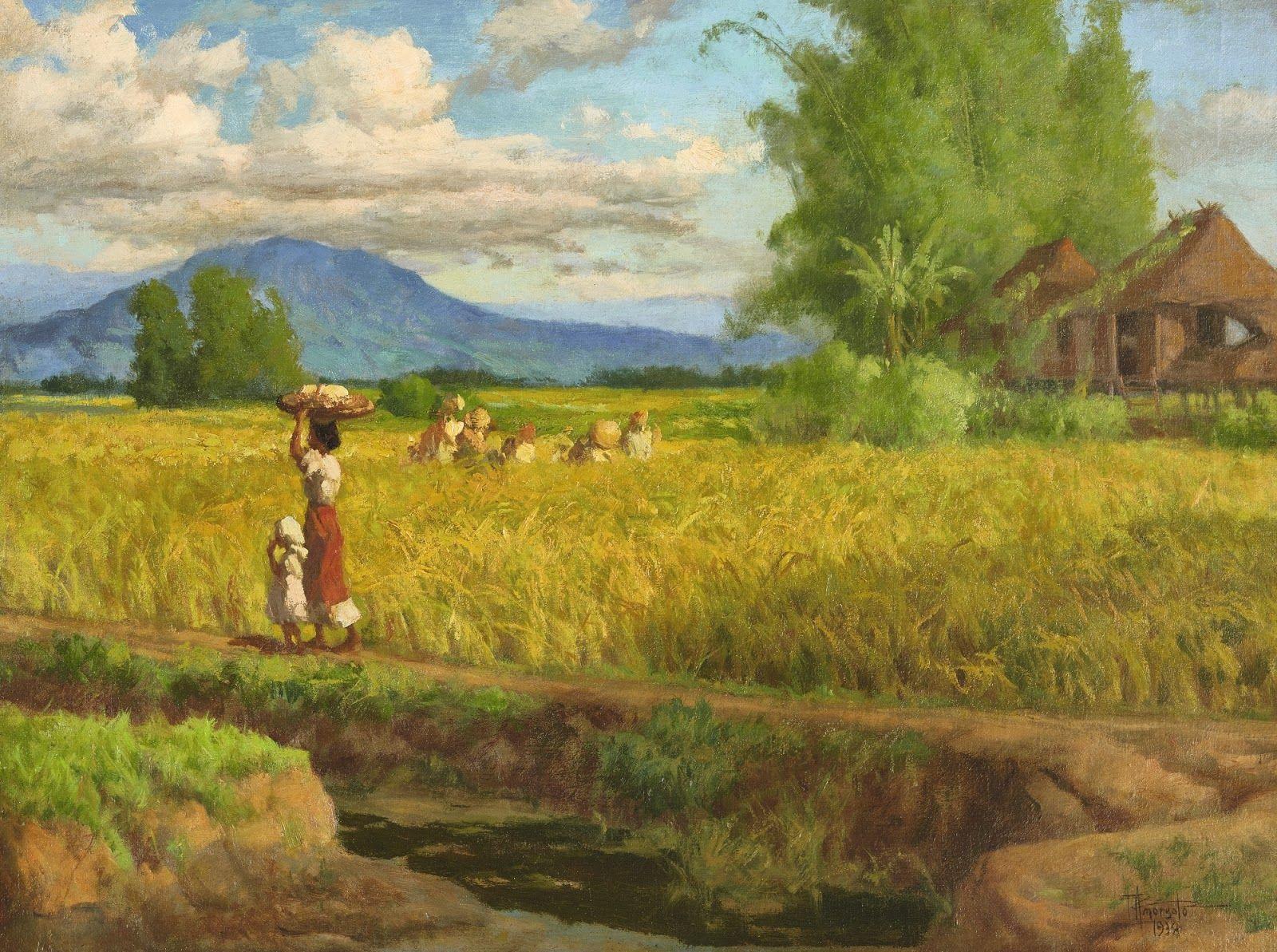 Fernando Amorsolo Filipino art, Philippine art, Landscape
