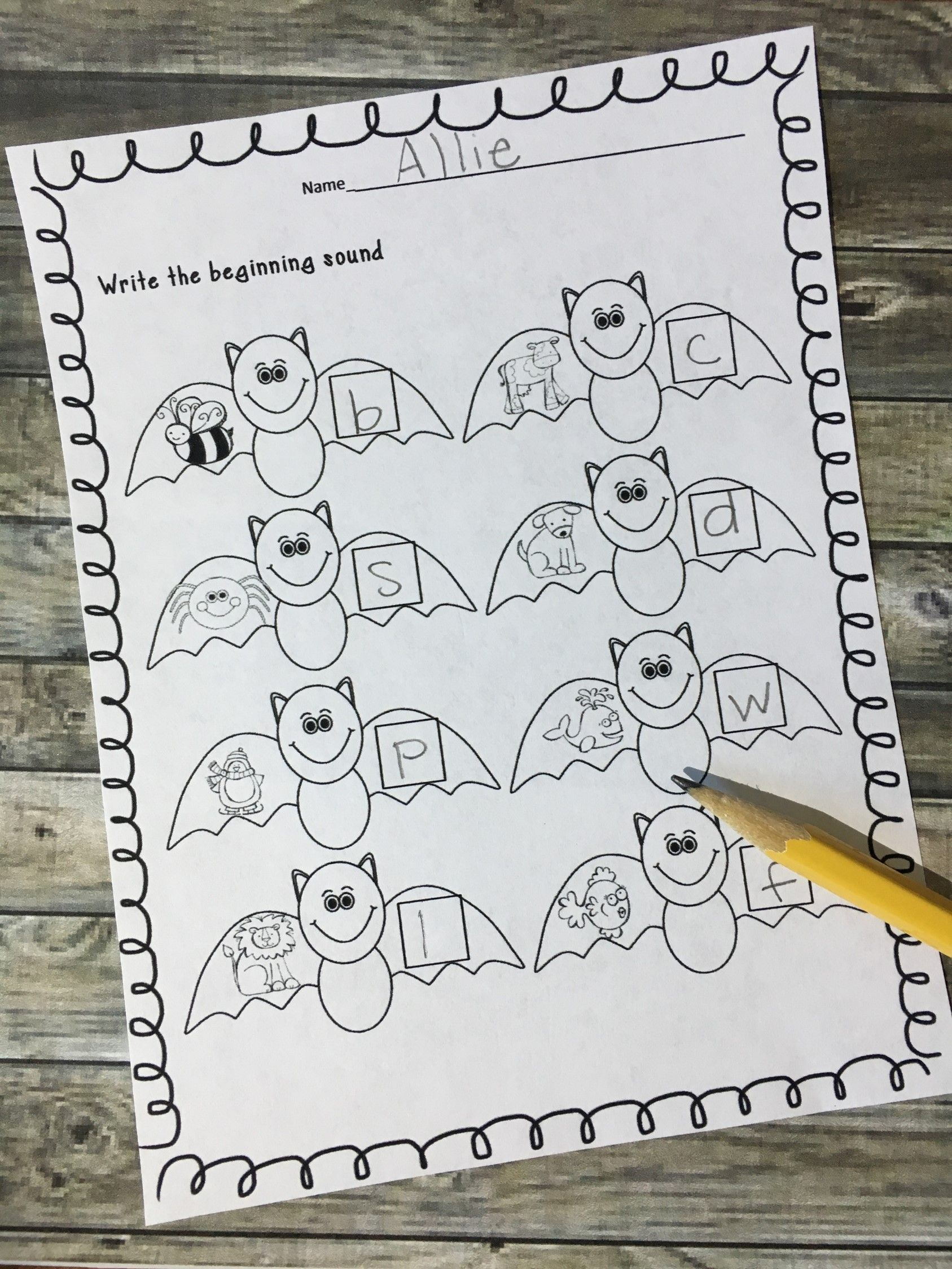 Print And Learn Literacy And Math Worksheets October