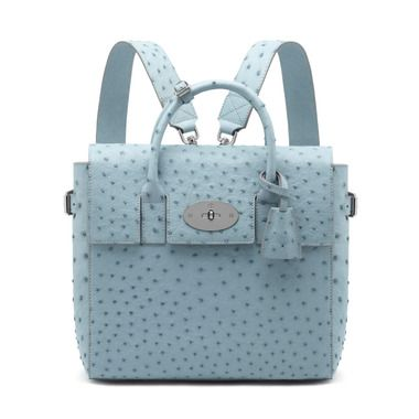 Mulberry - Cara Delevingne Bag in Sky Blue Ostrich   Pretty Things ... 7c0eba5519