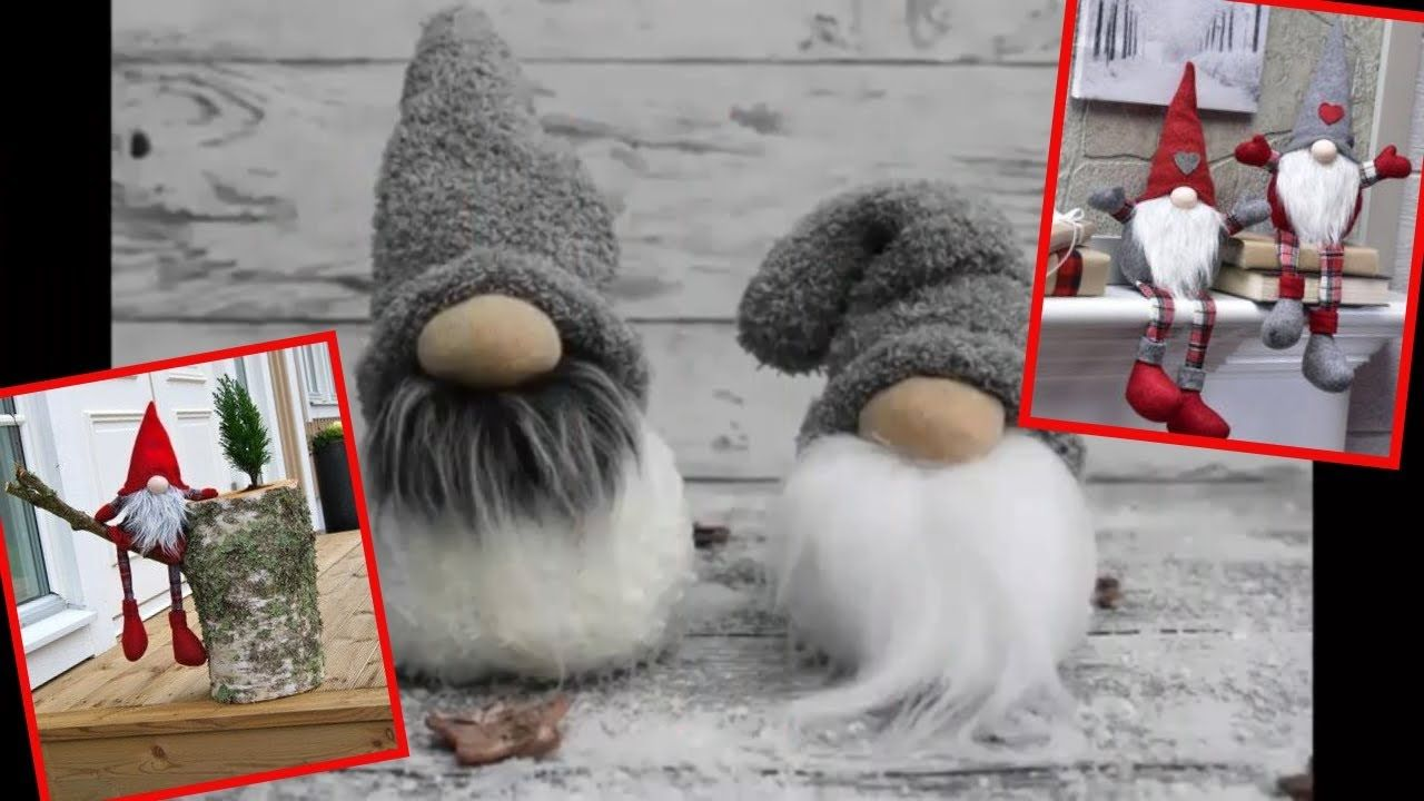Scandinavian Tomte Nisse Christmas Gnome DIY Tutorial. Christmas Crafts to Make and Sell #christmascraftstosell