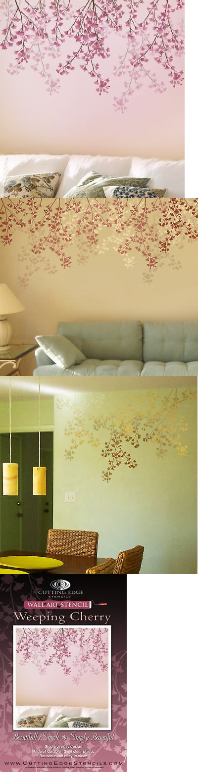 Stencils 41214: Weeping Cherry Stencil - Reusable Wall Decor ...