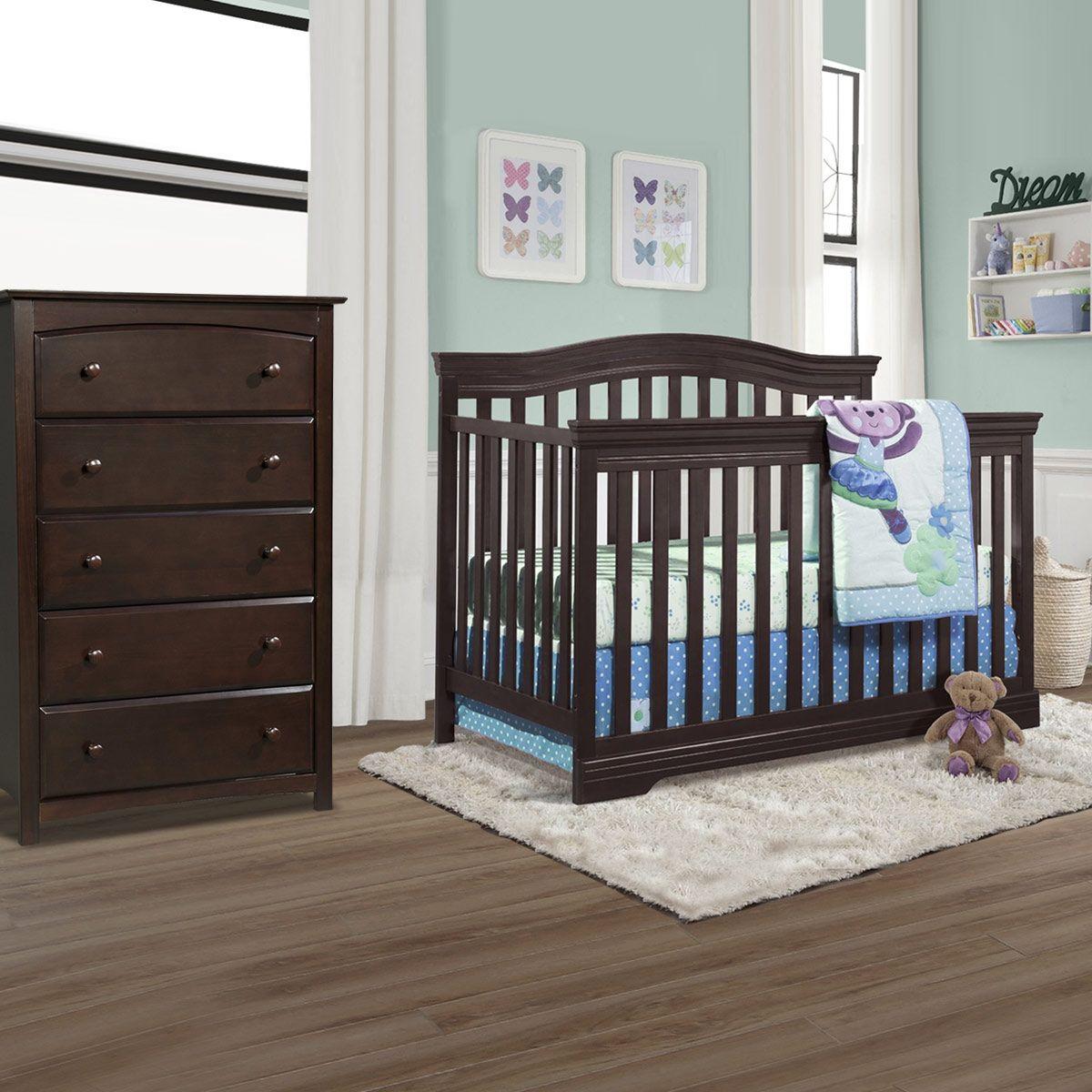 Broyhill Kids Bowen Heights 2 Piece Nursery Set 4 In 1 Convertible Crib