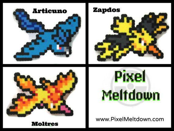Articuno Zapdos Moltres Legendary Birds Pokemon Pixel Art Bird Pokemon Pokemon Pixel Art