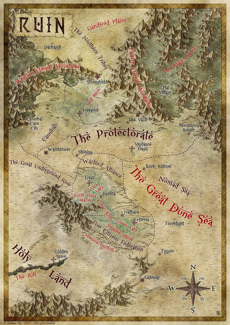 Tags: Fantasy art, region, country map MZ Lowe Author