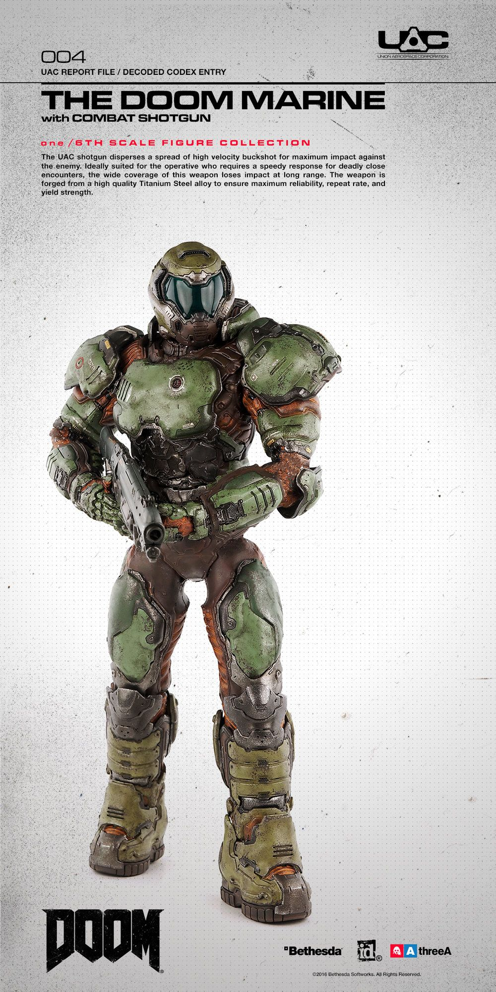 Last month, 3A revealed their new Doom Marine 1/6 Scale