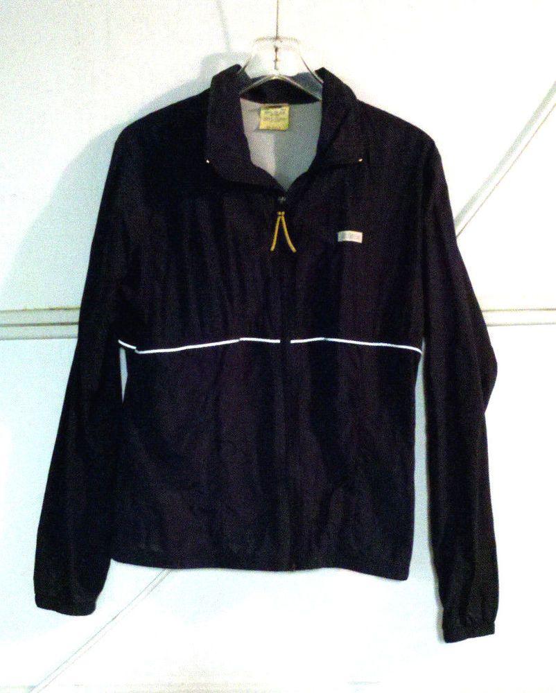 Love Sportswear Rare Vintage 80s Hind Black Windbreaker