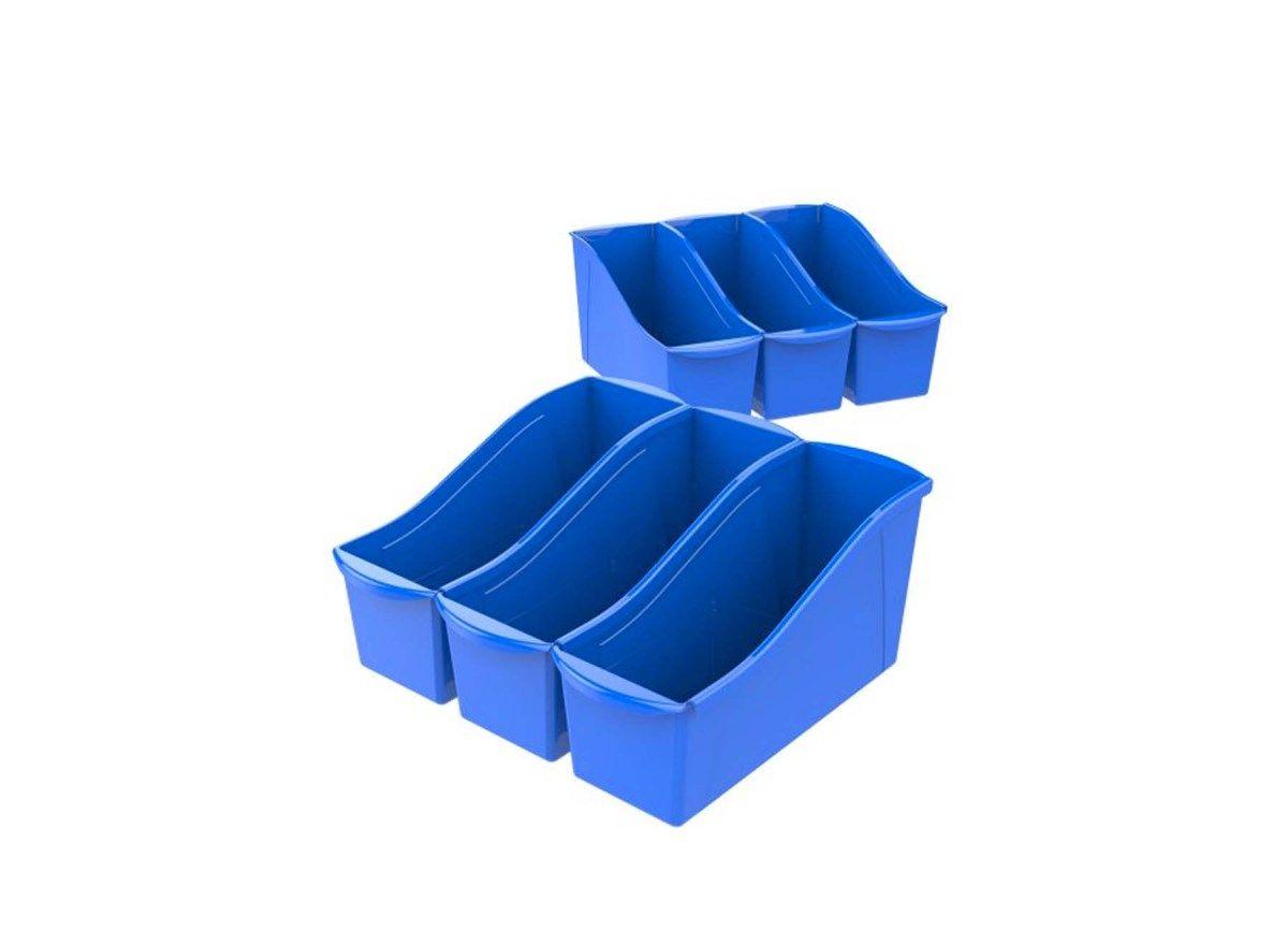 6 count storex large book holder bin for 828 at walmart