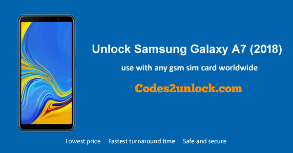 Instructions on how to unlock Samsung Galaxy A7 (2018) so