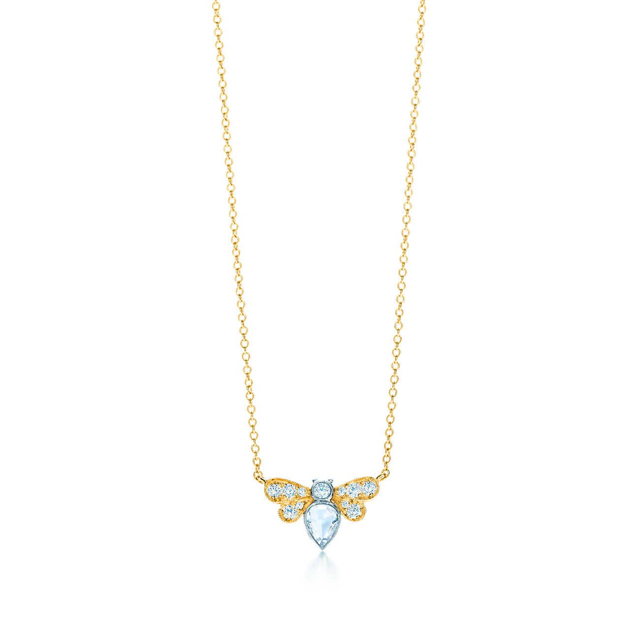 7bde0e63c Tiffany Enchant® bee pendant in 18k gold with diamonds. | Bee ...