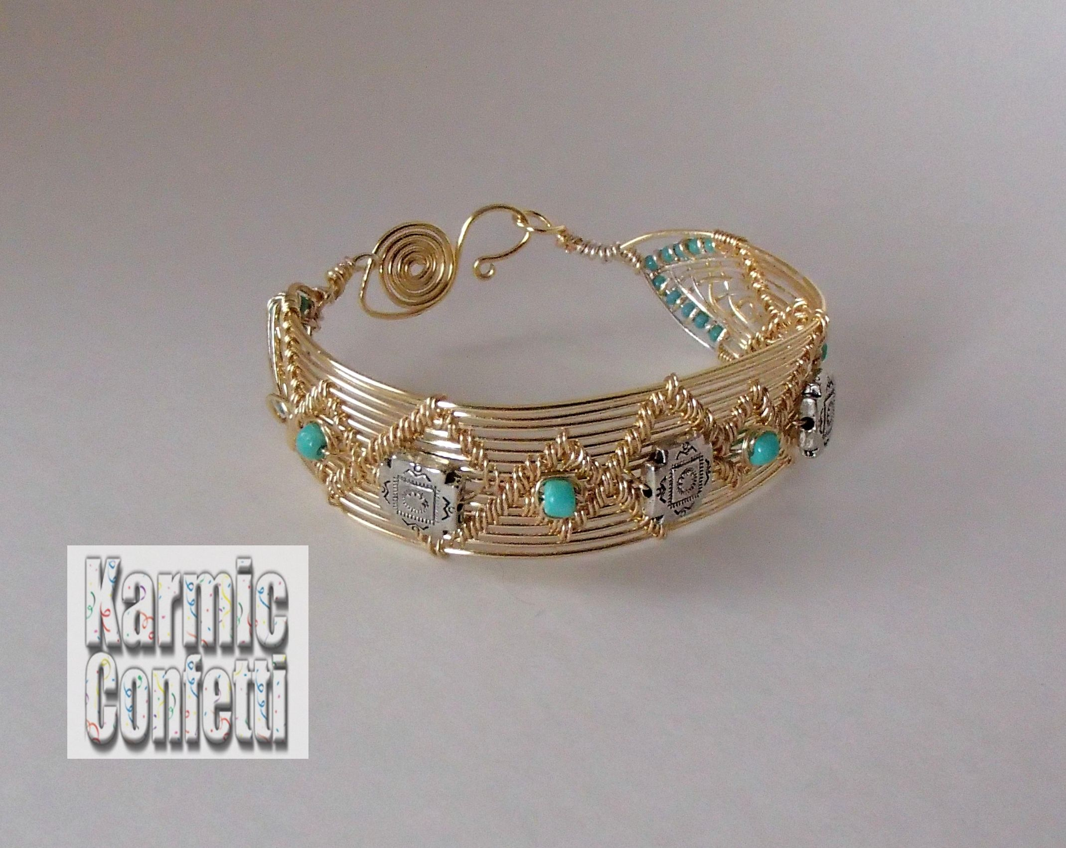 Gold colored wire bracelet based on the style of Lisa Barth. | My ...