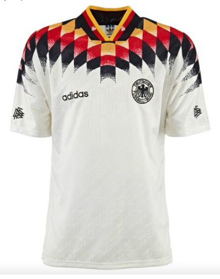 1994 germany world cup jersey soccer jersey pinterest for Germany mercedes benz soccer jersey