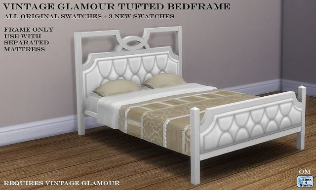 Etagenbett Sims 4 : Sims 4 ccs the best: vintage glamour tufted bed frame by