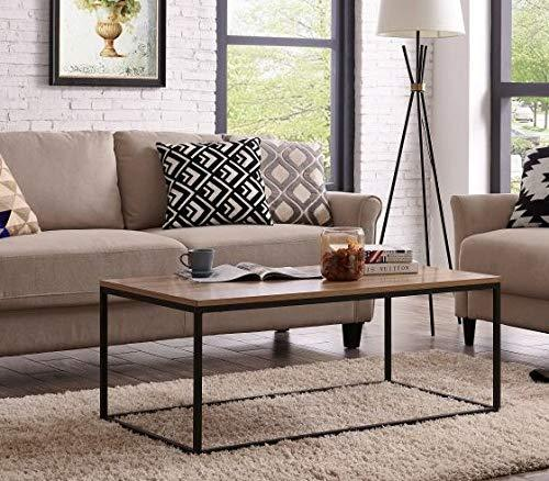 18802 Ids Home Living Room Table Simple Design Industrial Style With Black Metal Box Frame Sofa S Coffee Table Industrial Style Living Room Coffee Table Wood