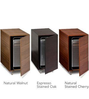 Sequel Mobile Cpu Cabinet By Bdi Espresso Stained Oak By