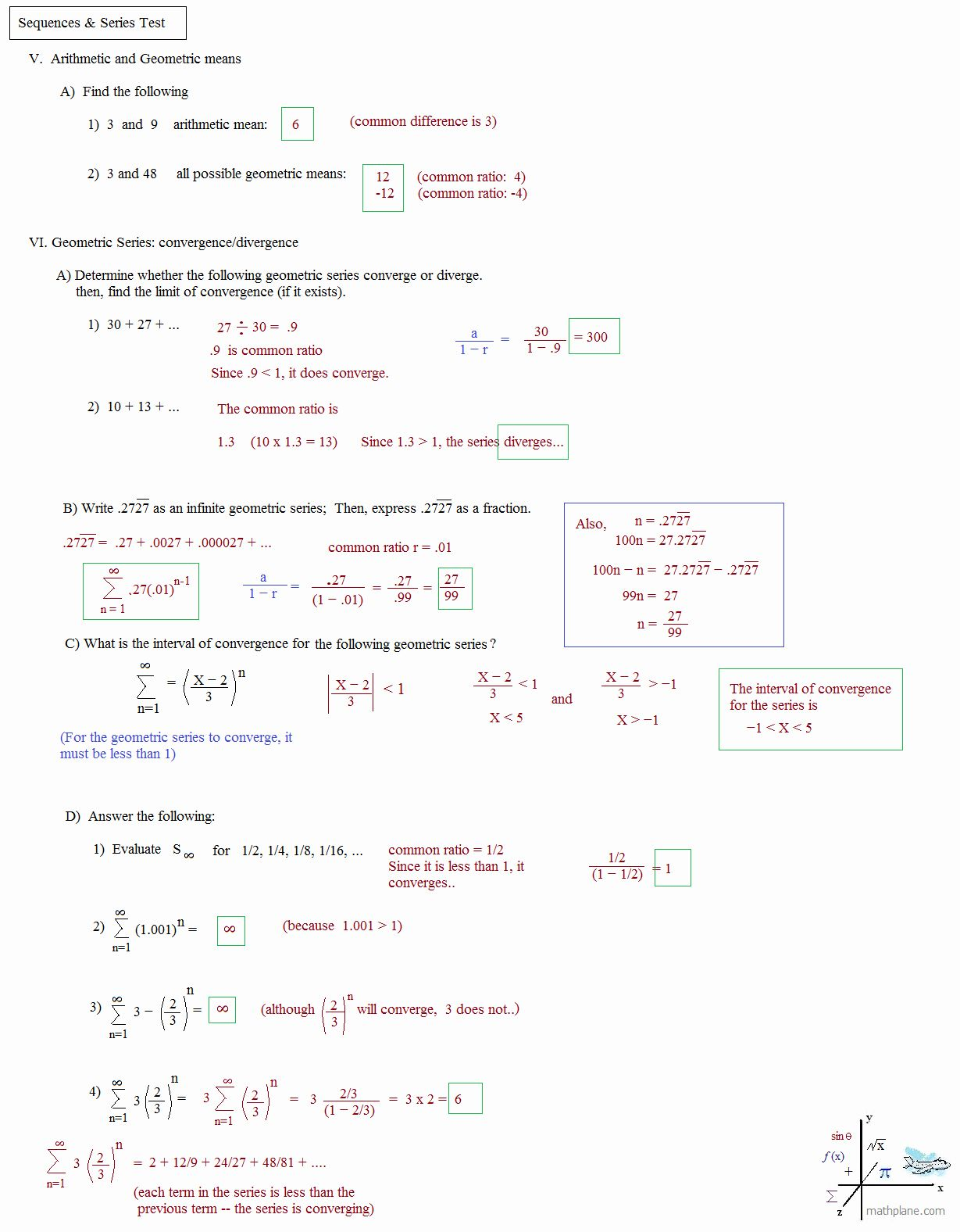 50 Arithmetic Sequences And Series Worksheet In