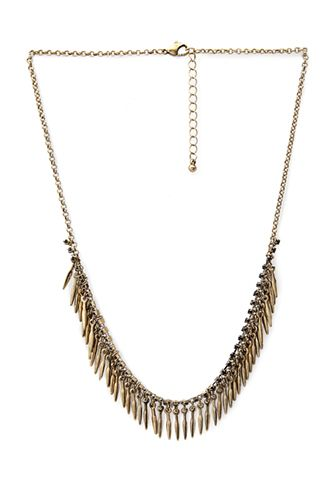 NEW ARRIVALS | WOMEN | Forever 21 - Arrowhead Fringe Necklace