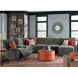 La-Z-Boy ASPEN 7 Pc Reclining Sectional Sofa w/ Cupholders  sc 1 st  Pinterest : lazy boy dawson sectional - Sectionals, Sofas & Couches