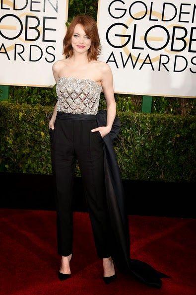 Emma Stone in Lanvin - Golden Globes 2015